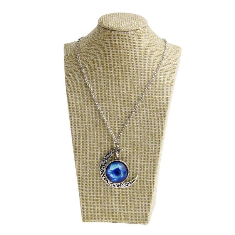 Linen Jewellery: 1pcs Linen Mannequin Bust Jewelry Necklace Pendant Neck