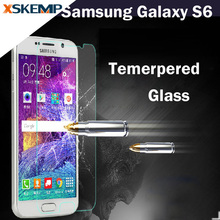 Front Screen Protector Film For Samsung Galaxy S6 G9200 Tempered Glass Protective Guard Premium 9H 0.26MM Explosion Proof Film