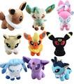 9 pçs/set Anime 8 estilo Personagem Pokemon Plush Macio Toy Stuffed Animal Collectible Boneca