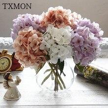 1 Pc Of Luxury Man Made Cloth Hydrangea Amazing Colorful Decorative Flowers Wedding Party Birthday