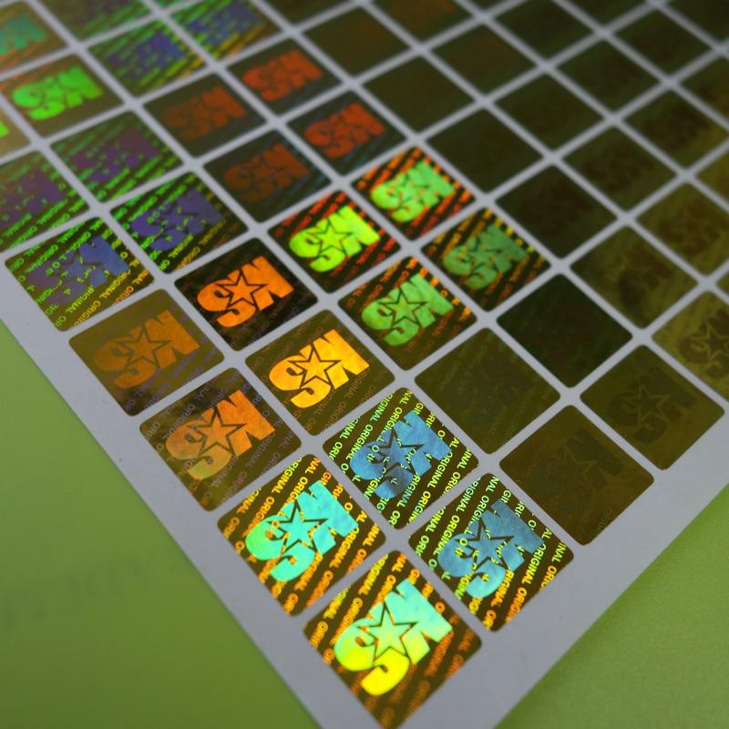 Купить с кэшбэком Free design 3D color Changing Secure custom warranty laser hologram label sticker printing,void if removed