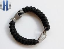 EDC Hand-woven Titanium Shark Shape + Keychain Umbrella Bracelet