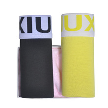 DEWVKV 2Pcs/lot Male Underpants Men Underwear Boxers Solid High Quality Cotton Boxer Homme Boxershorts S-4XL