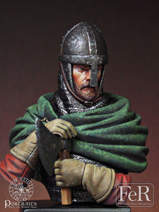 1/16 Saxon Huscarl, Hastings, 1066 Resin kit Figure Bust GK Historical war theme Uncoated No colour