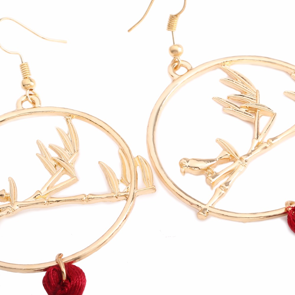 happiness earrings circle drop en gold rose boutique circular