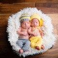 Bebê recém-nascido menina boy fotografia props infantil handmade crochet cotton hat + calças define fotografia acessórios de fotografia da foto do bebê