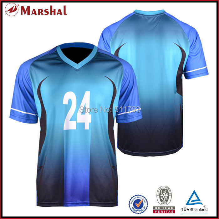 5746526cd Wholesales football t shirts custom design sublimated in stock football  uniforms New Design Sulbimation Printing Top