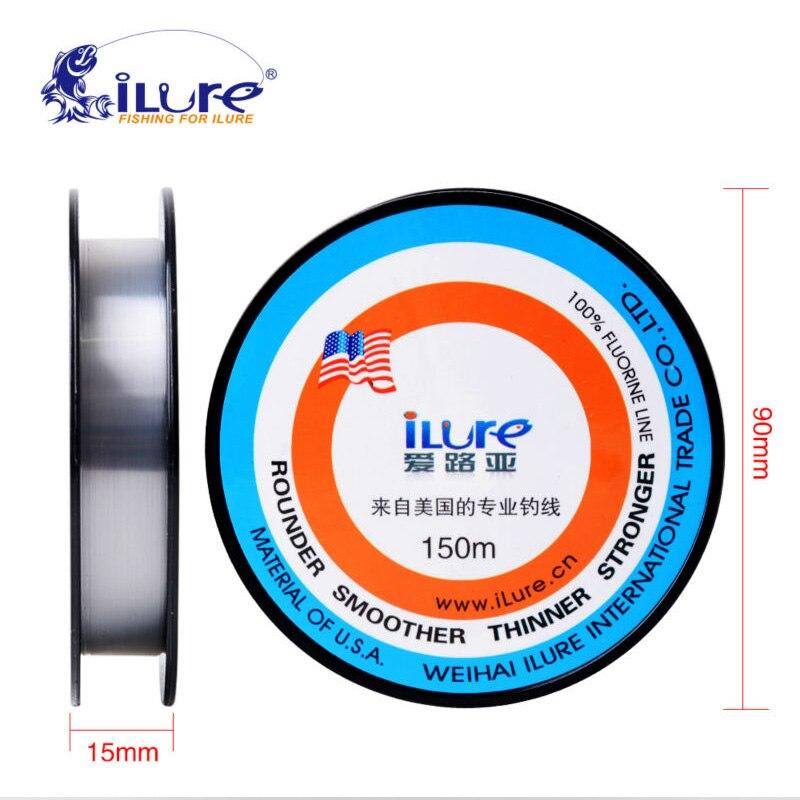 Linhas de Pesca Fluorocarbono Ilure 150 m Japonês Material Super Fibra De Carbono Caça Submarina Mais Suave Mais Forte Linha De Pesca