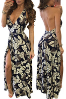 Sexy Women Boho Maxi Club Dress Printing Bandage Long Dress Party Multiway Convertible Robe Longue Femme