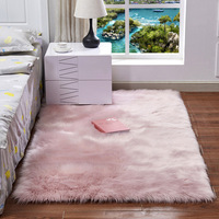 Faux Sheepskin Chair Cover 15 Colors Warm Hairy Wool Carpet Seat Pad long Skin Fur Plain Fluffy Area Rugs Washable 2019 New