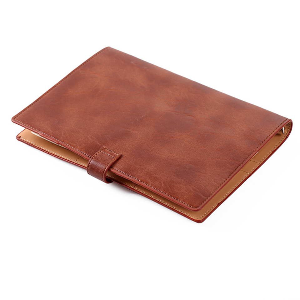 A5 Spiral Notebook Vintage Leather Diary DokiBook Planner Agenda Travels Diary Sketchbook Journal School Office Custom Logo