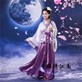 Púrpura de la Mujer Antigua Dinastía Tang Emperatriz Vestido Tradicional Hanfu Ropa Cosplay Mujeres Traje Chino Antiguo