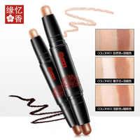 Professionelle Doppel Kopf Highlight Lidschatten Stift Stick Make-Up Gesicht Nase Film Contour Concealer Stift Pflege Paste Kosmetik 3 Arten