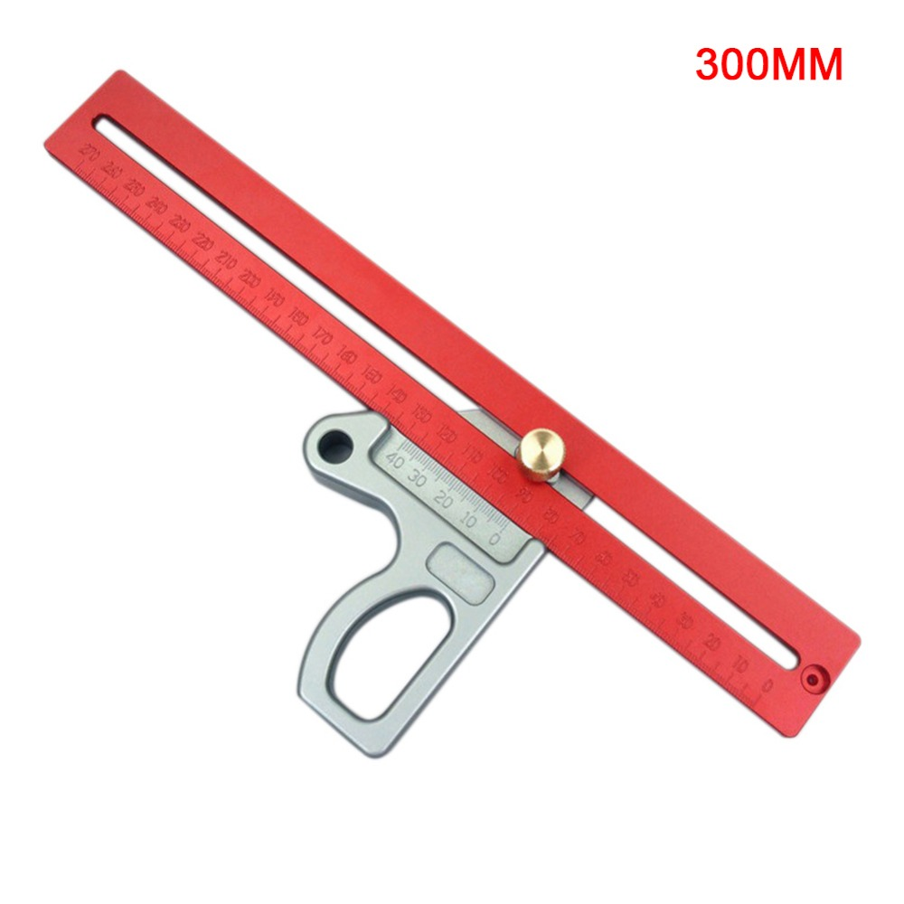300MM Woodworking Ruler L-Square Height Ruler Woodworking Scribe Woodworking Scribe Gauge Aluminum Alloy Measuring Tool