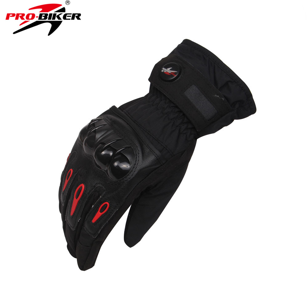 Motorcycle gloves thinsulate - Pro Biker Winter Full Finger Motorcycle Gloves Motocicleta Gants Moto Luvas Waterproof Windproof Motorcycle Skiing Gloves