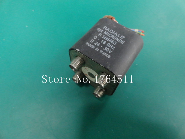 [SA] RADIALL R566463 0-18GHZ DPDT RF coaxial switch 24-30V SMA 1pc adapter n plug male nickel plating to sma female gold plating jack rf connector straight vc720 p0 5