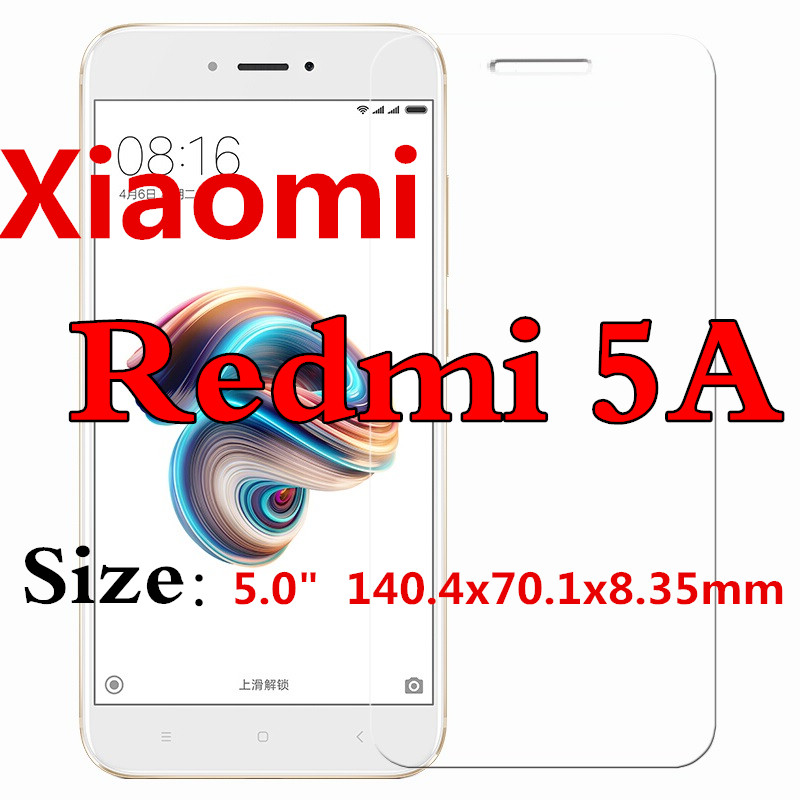 Tempered Glass For Global version Xiaomi Redmi 5A 2GB RAM 16GB ROM Mobile Phone Snapdragon 425 Quad Core CPU with retail package in Phone Screen Protectors from Cellphones Telecommunications