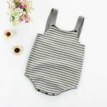 Baby Bodysuit Boy Girl Winter Clothes Strip Infant Knit Romper Knitted New Born Coverall