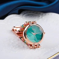 natural tourmaline stone bracelet & 33mm watch DIY jewelry for woman waterproof watch for summer beach wholesale !