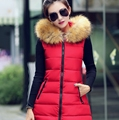 new fund of 2016 autumn winters is han edition hooded women's cotton feather waistcoat thick long vest vest to keep warm