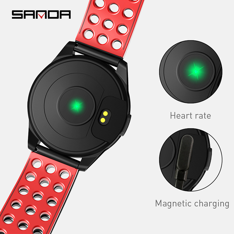 SANDA CK20 New Fashion Men Smart Sport Wristwatches Pedometer Fitness Tracker Watches IP67 Waterproof Digital Clock Wristwatch in Digital Watches from Watches