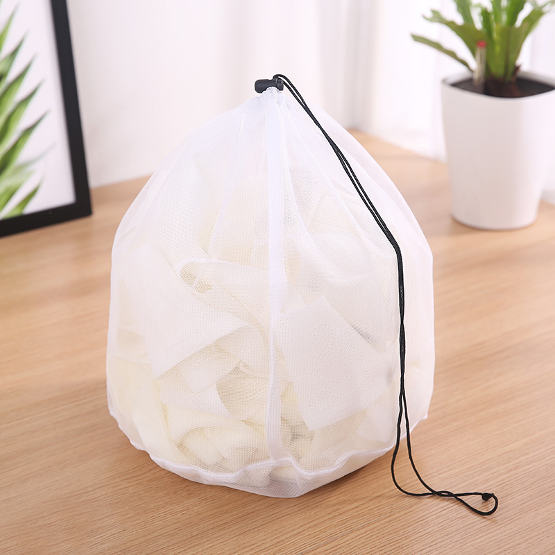 3 Size Clothing Care Fine Mesh Bags Thicken Fine Lines Drawstring Laundry Bag Bra Underwear Protective Bags Laundry Supplies