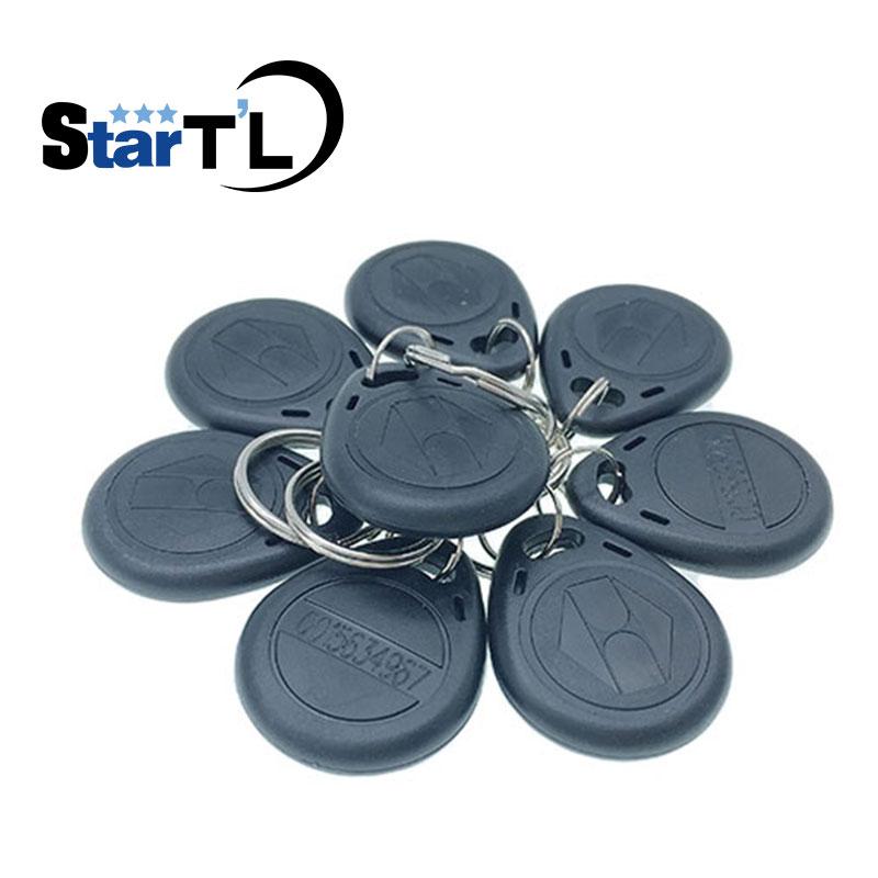 Free Shipping 10 pcs TK4100 Read only 125kHz RFID ID Card Key Keyfobs Access Control Tag Grey Access Control Key Only стоимость