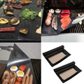 2pcs BBQ Grill Mat Cooking Outdoor Reusable Non-stick Surface Pad Barbecue Popular New