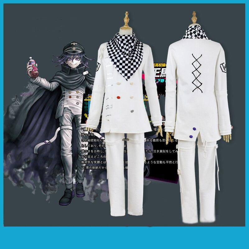 Japanese Anime Danganronpa V3 Ouma kokichi Cosplay Costume School Uniform Suit Outfit