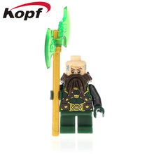Single Sale The Lord of the Rings Figures Dwalin Bifur Bain Bilbo Oakenshield Thranduil Building Blocks Children Gift Toys PG525(China)