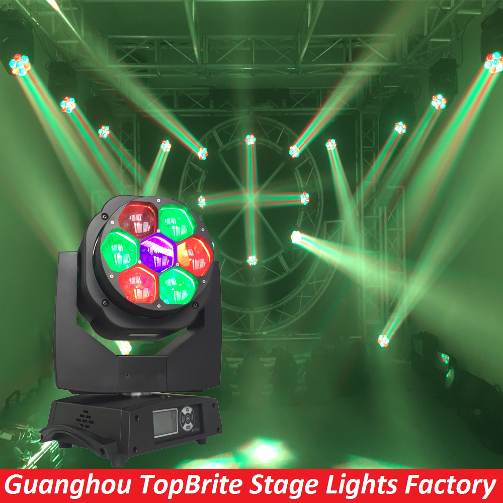 цены  2016 Free Shipping High Quality 7x15 RGBW 4IN1 Zoom Wash Beam LED Bee Eyes Moving Head Lights For Stage Dj Disco Laser Light