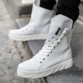 2016 Designer Autumn Winter Men High Top White Casual Shoes Male Outdoor Footwear Fashion Leather Ankle Boots Men Trainers90