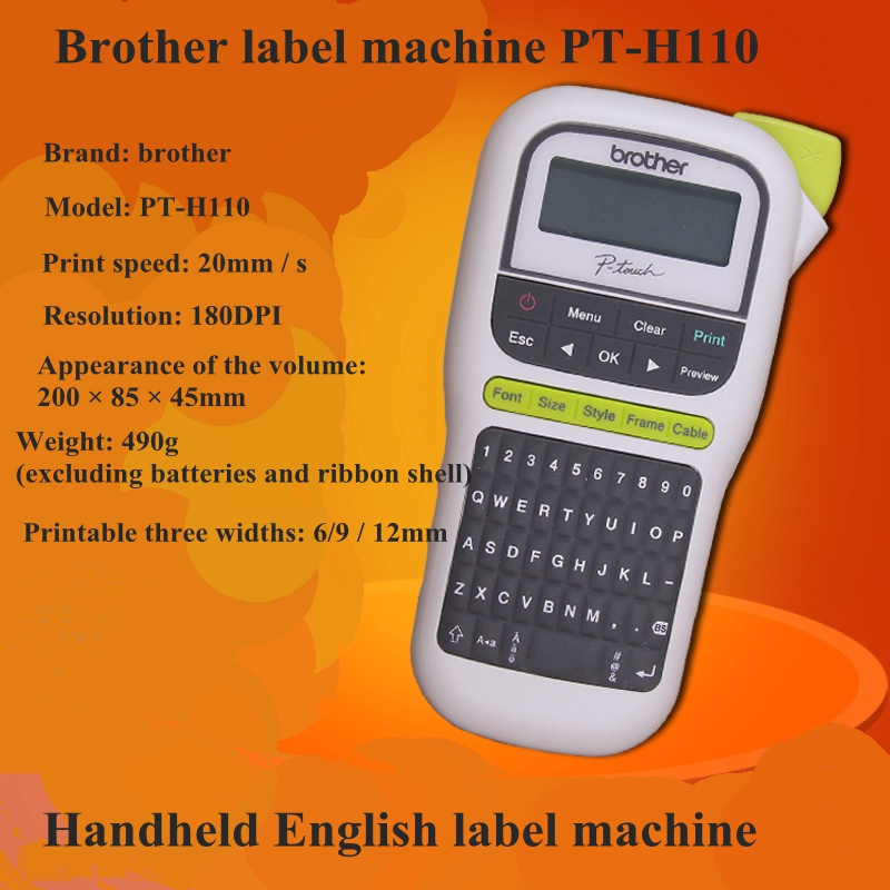 PT-H110 portable label printer brand new original English image