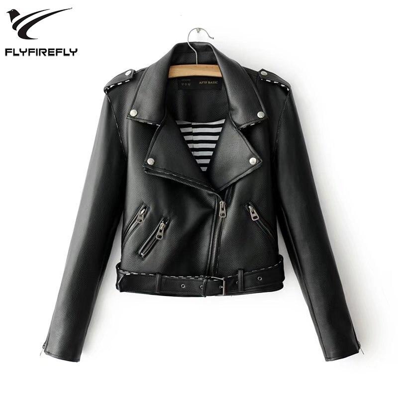 Fashion Streetwear Motorcyc Short Leather Jacket Women Black White Zipper Long Sleeve Biker Jacket Autumn Casual Punk PU Jacket