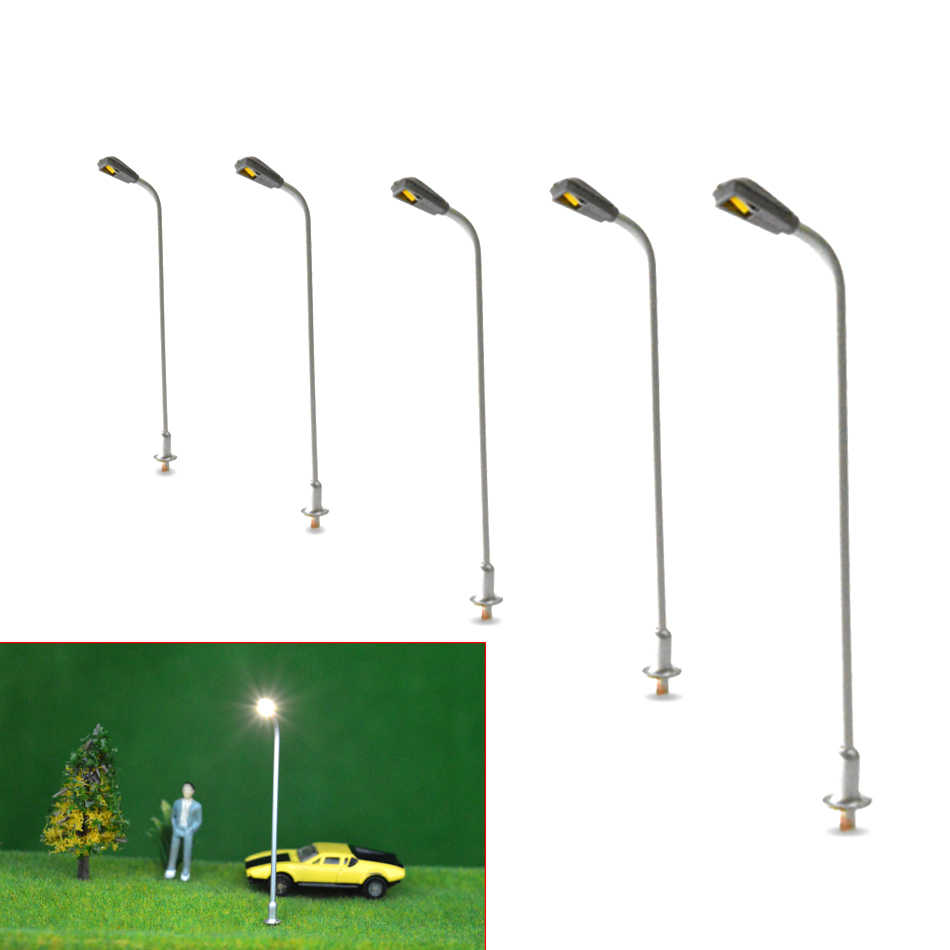 1/200 scale 5cm architectural model  Metal copper Streets Lamp LED Lights Lamppost  Model Railway Street Lighting