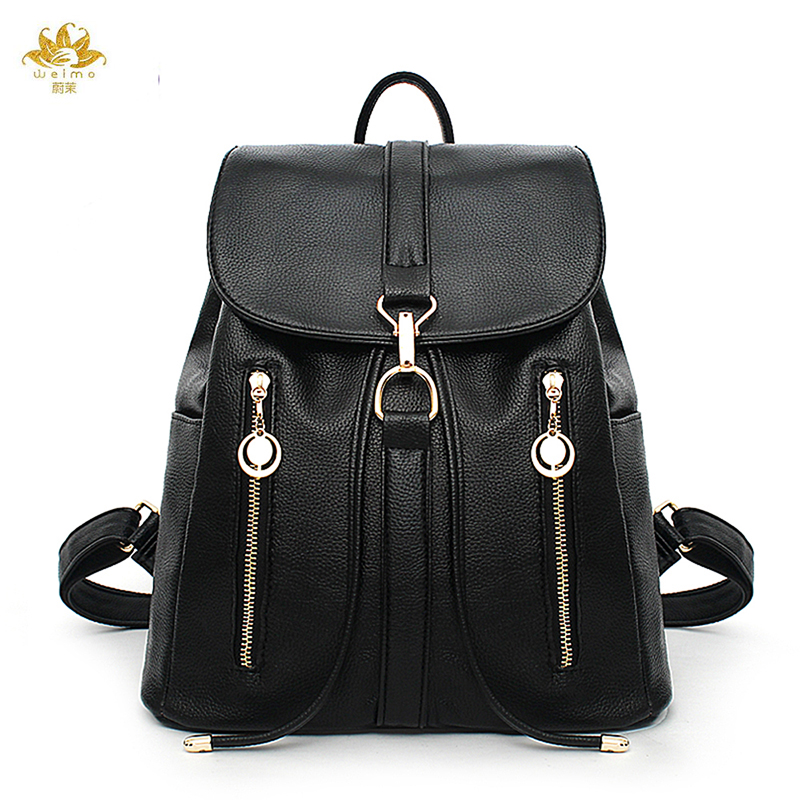 WE MORE Fashion Women Backpack Casual Brand Design Backpack PU Leather Backpacks Style Shoulder Bag CrossbodyBag