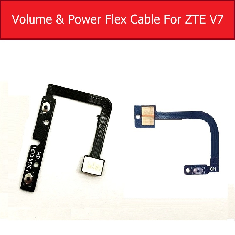 Genuine ON/OFF Power & Volume Flex Cable For ZTE Blade V7 BV0701 Audio Control Side Key Switch Button Flex Ribbon Spare Parts