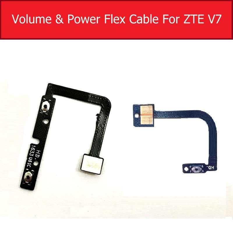 אמיתי על/OFF כוח ונפח Flex כבל עבור ZTE להב V7 BV0701 אודיו שליטה צד מפתח מתג כפתור להגמיש סרט חילוף חלקי
