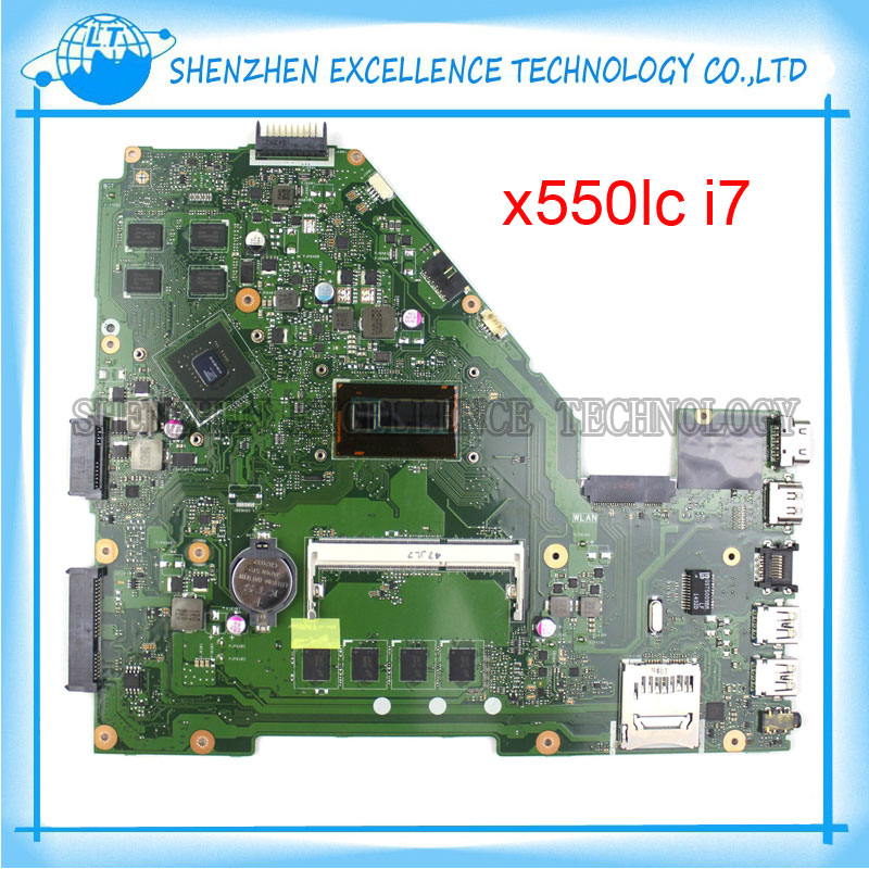 for ASUS X550LC laptop motherboard X550LC i7-4500CPU REV2.0 Non-integrated mainboard full tested 60NB02HA-MB3000  k56cb laptop motherboard for asus with i7 cpu non integrated k56cm mainboard 100