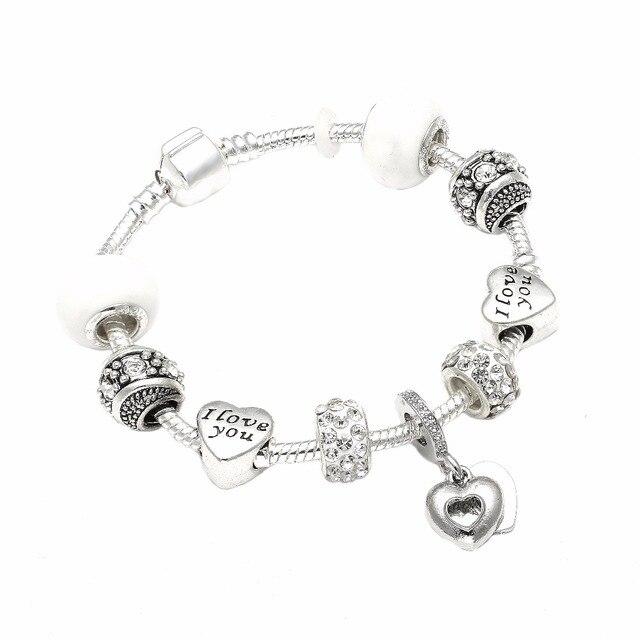 Europe Style Fashion Jewelry Eternal Love Charm Bracelets Bangles I You Charms Pandora Bracelet