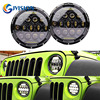 75W Headlamp 7 Inchs Motorcycle Led Headlight With DRL For Jeep Wrangler JK TJ FJ Cruiser