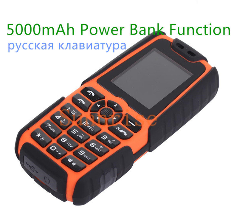 5000mAh Power Bank Phone Original Xiaocai X6 Dual Sim Card Military Army Outdoor Dustproof Shockproof Similar