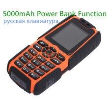 5000 mAh Energienbank Telefon Ursprüngliche Xiaocai X6 Dual-sim-karte Military Armee Freien Staubdicht Stoßfest Ähnliche S8 H-mobile X6
