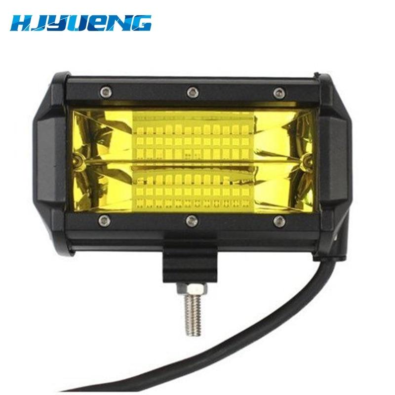 Image 2 - 5 Inch 72W 3000K 6000K Offroad Led Work Light Bar Led Fog Lights for Trucks SUV ATV 4x4 4D Spot Beam Led Working Light-in Light Bar/Work Light from Automobiles & Motorcycles