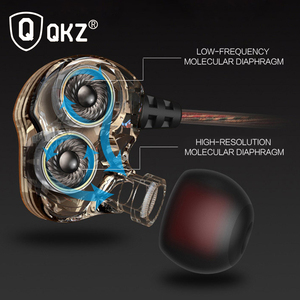 Image 3 - Earphones QKZ KD4 fone de ouvido Mini Dual Driver Original hybrid dual dynamic driver Headphone mp3 DJ Headset auriculares