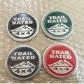 2 шт. 3D Наклейки Герба Знак для Jeep Wrangler Логотип Trail номинальная 4X4 Fender Грузовик Красный Серый Черный Автомобиля Стикер Decal укладки