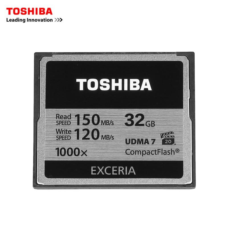 Galleria fotografica <font><b>Toshiba</b></font> 32 gb cf card compact flash professionale ad alta velocità della scheda 1000x150 mb/s udma7 1000x per la macchina fotografica camcorderadn vidieo