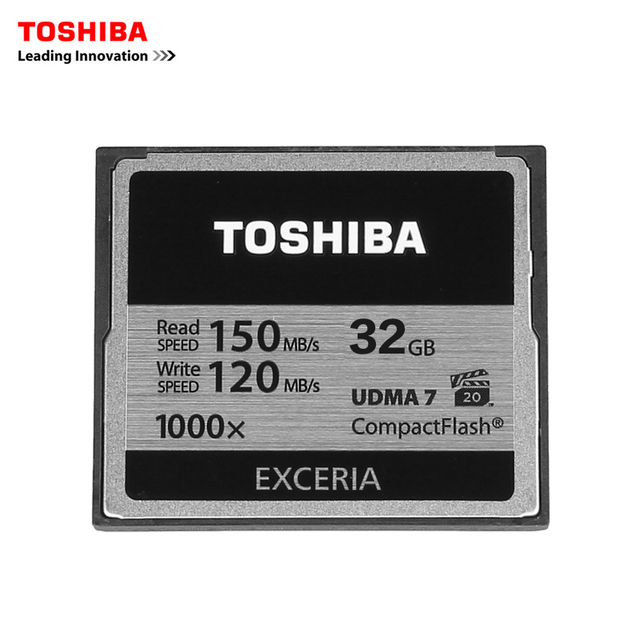 TOSHIBA 32GB CF card professional compact flash Card High Speed 1000x 150MB/s UDMA7 1000X for camera camcorderadn vidieo