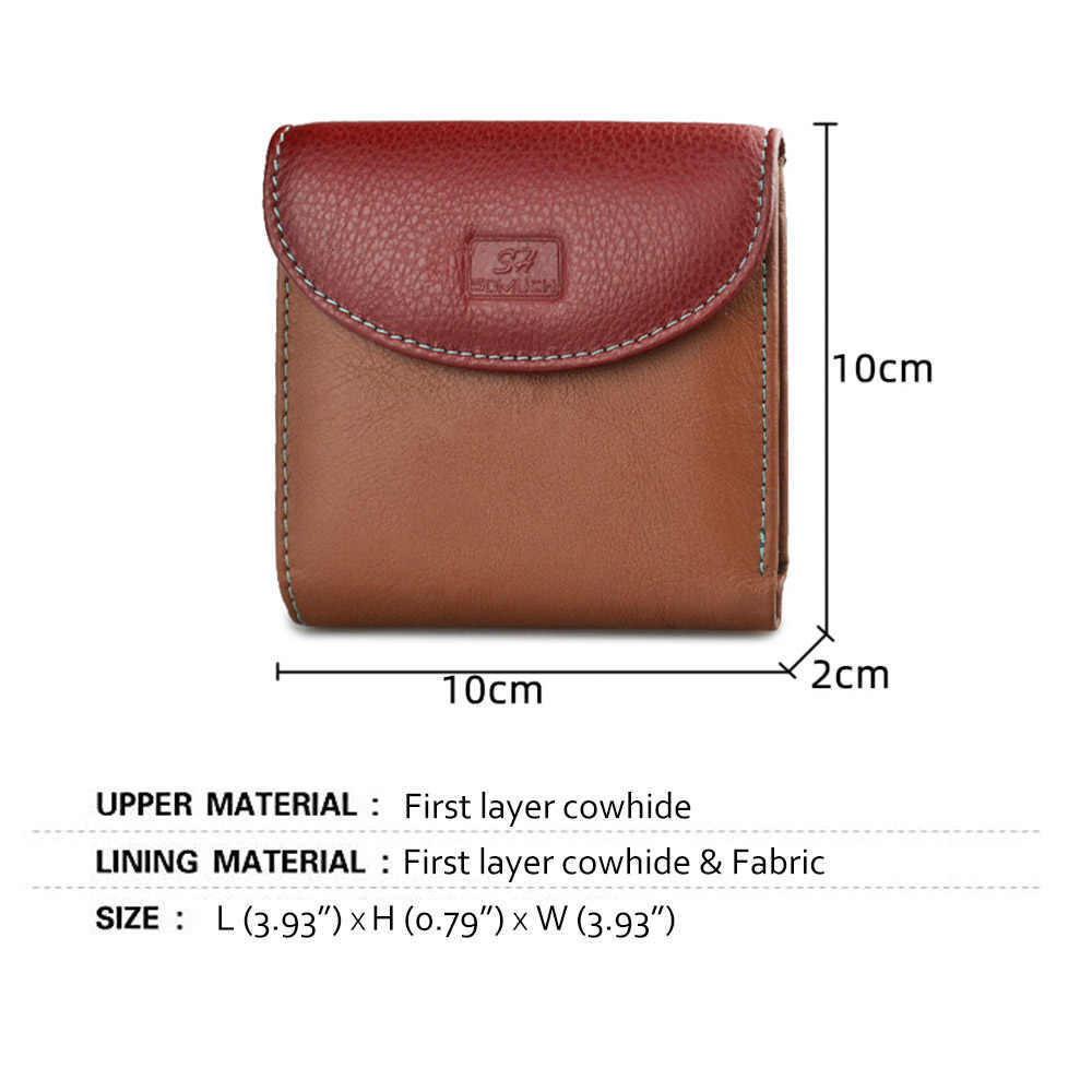 Beth Cat Slim Colorful Genuine Leather Women Wallets And Purses Female Mini coin purse ladies ID Card Holder Small Money Bags