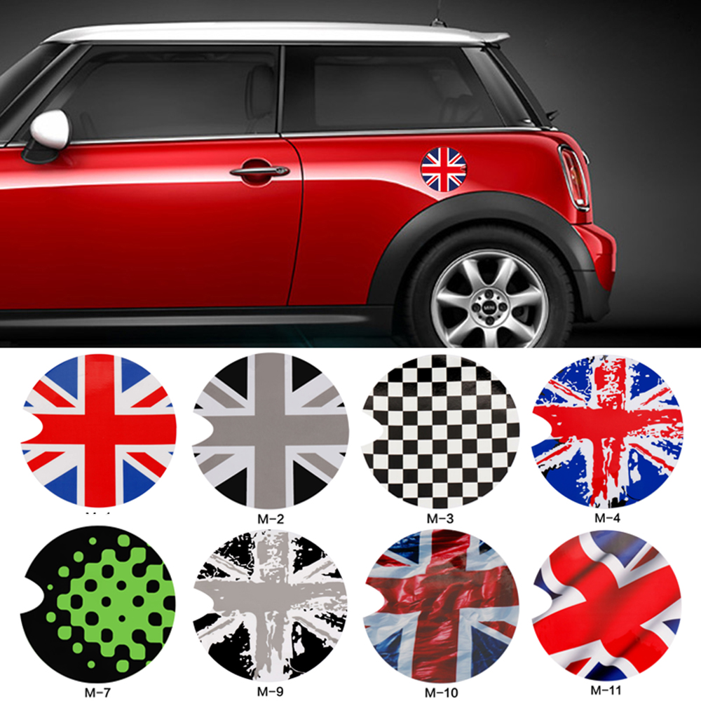 Gas Fuel Tank Cap Vinyl Cover Sticker Decals Decoration For Mini Cooper S One F55 F56 R55 R56 R60 R61 Car Styling Accessories british cool soldiers car side door skirt decal sticker decoration for mini cooper one jcw s r60 r55 r56 f55 f56 f60 car styling